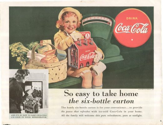 Digital Followers - adverting vintage Coca-Cola